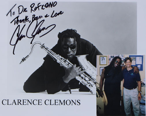 Dr. Rofrano, Thanks, Peace, and Love! Clarence Clemons
